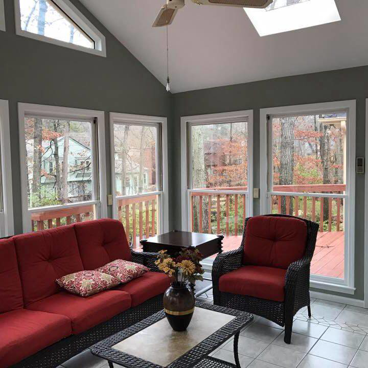 Sunroom Addition Enclose Patio | R Contracting Services - Home Remodeling and Renovations - Creating Curb Appeal Around Atlanta