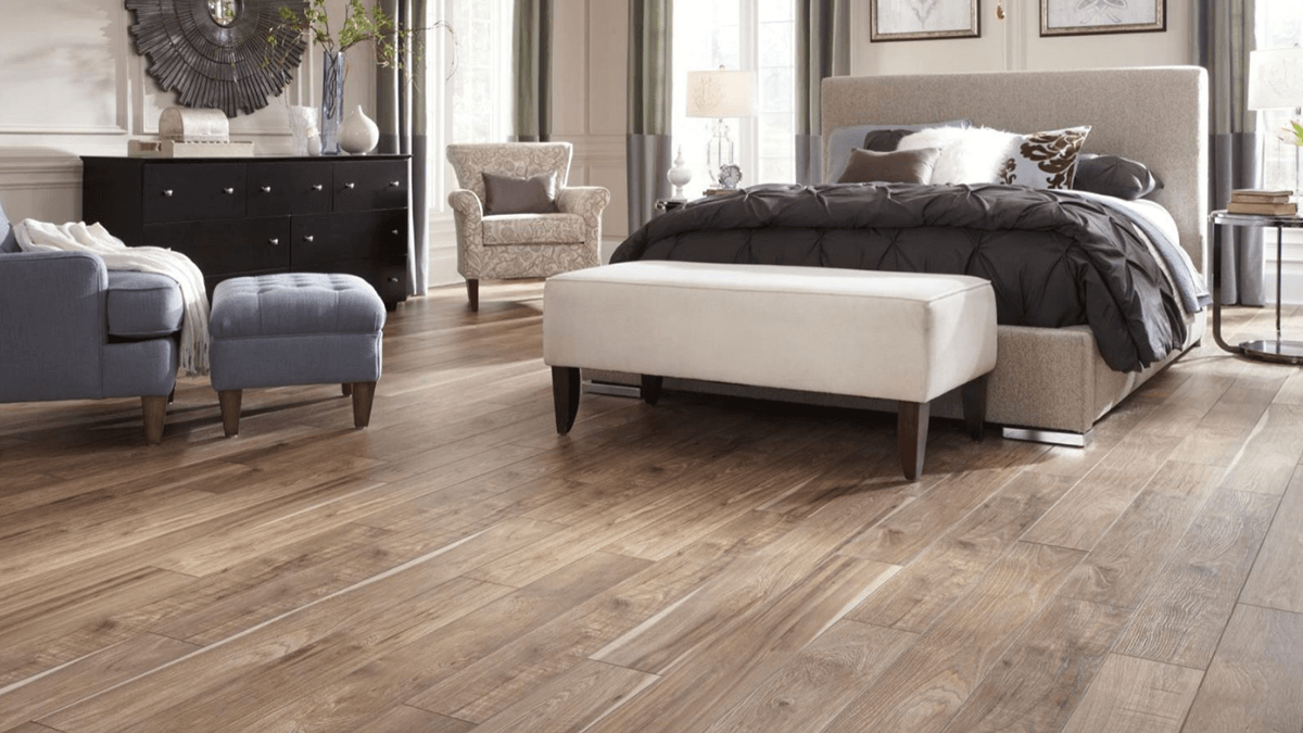 Luxury Vinyl Plank in a Bedroom | R Contracting Services