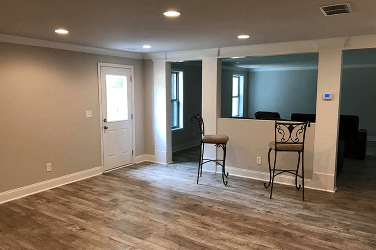 Basement Remodeling with New Floors | R Contracting Services - Home Remodeling and Renovations - Creating Curb Appeal Around Atlanta