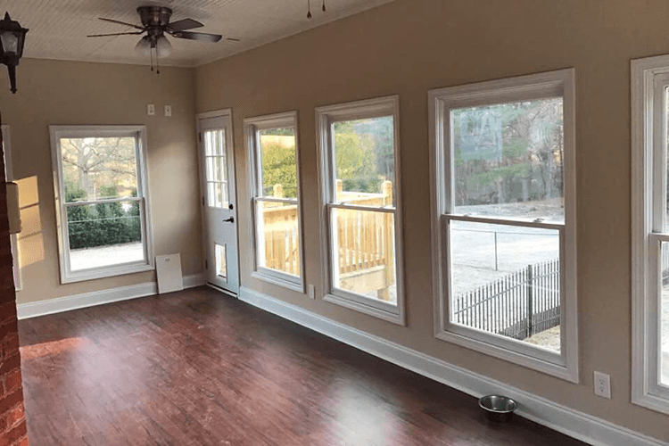 Sunroom with Luxury Vinyl Plank Floors | R Contracting Services - Home Remodeling and Renovations - Creating Curb Appeal Around Atlanta