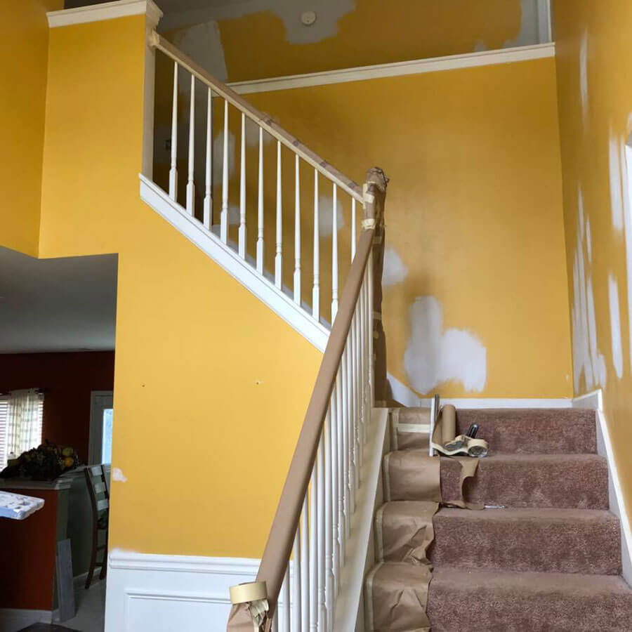 Staircase Remodel Before | R Contracting Services