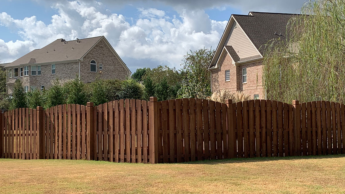 Stained Privacy Fence | R Contracting Services