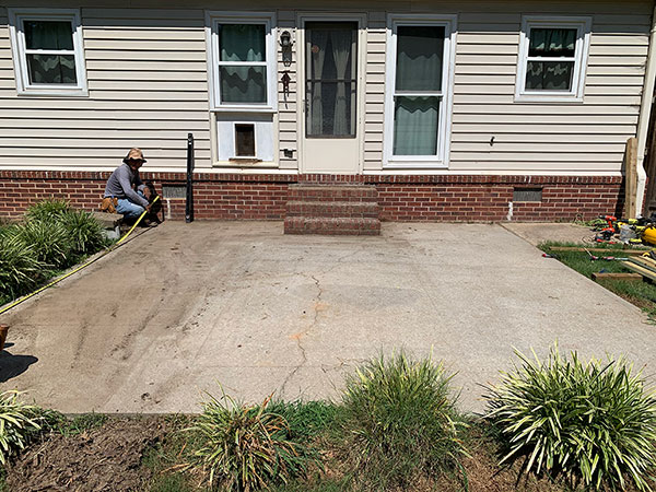 Custom Deck Before | R Contracting Services