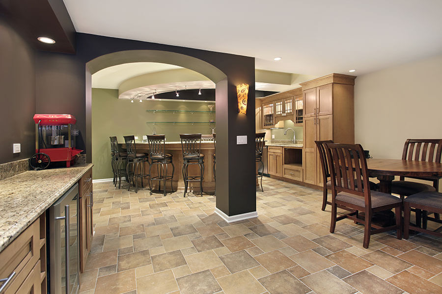 Basement renovation and remodeling by R Contracting Services
